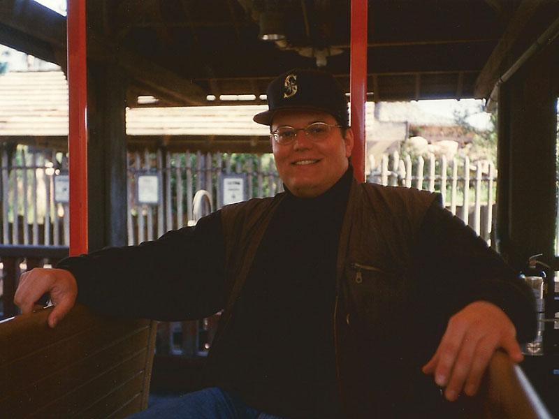 Marc im Zug