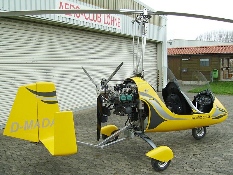 Gyrocopter von hinten