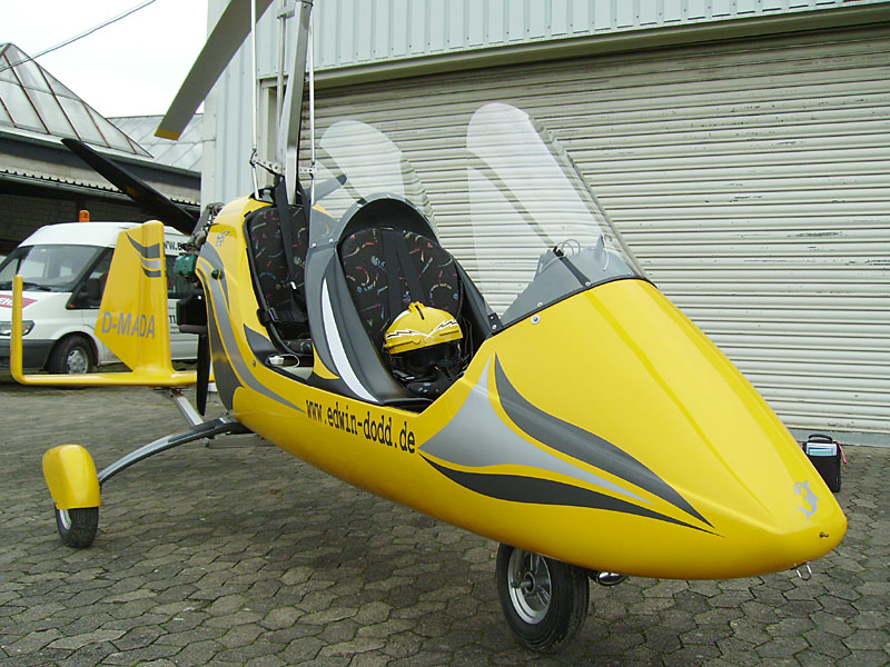 Gyrocopter am Boden