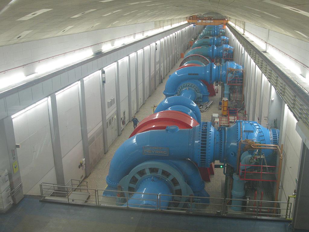 Unterirdische Turbinenhalle