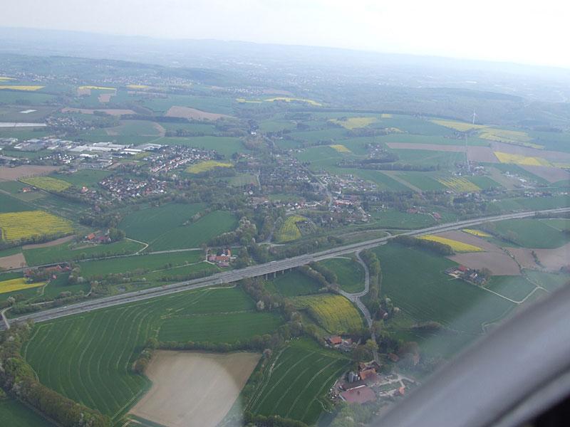 Brücke an der Autobahn A2