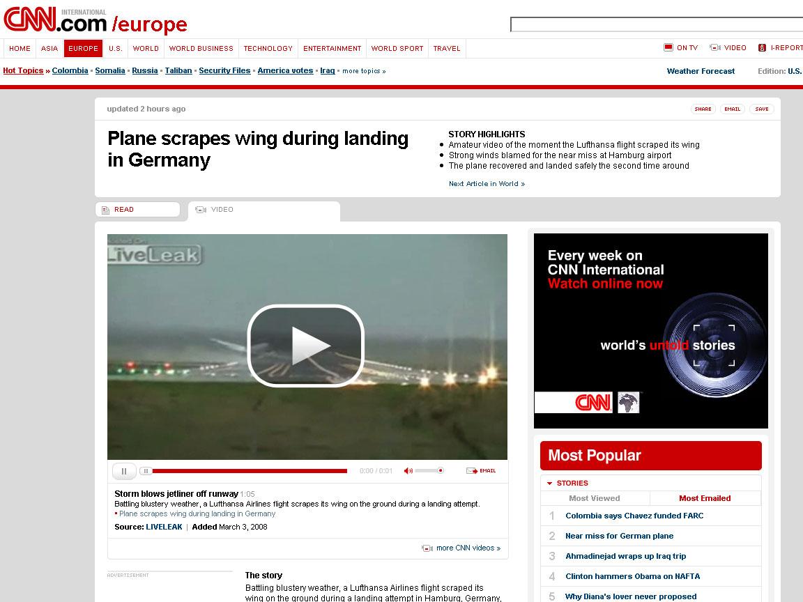 A320-Landung bei CNN
