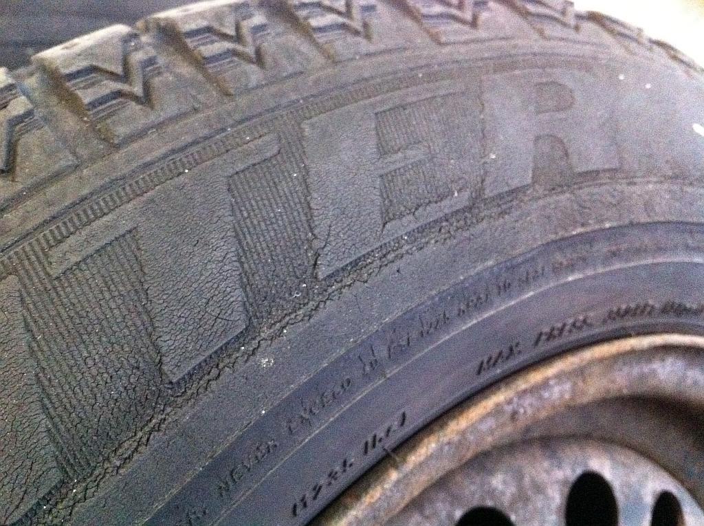 Reifenprofil auf der Flanke