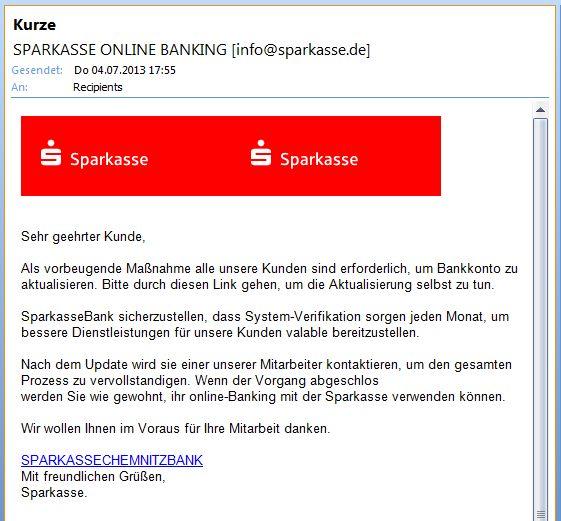 Sparkassen-spam