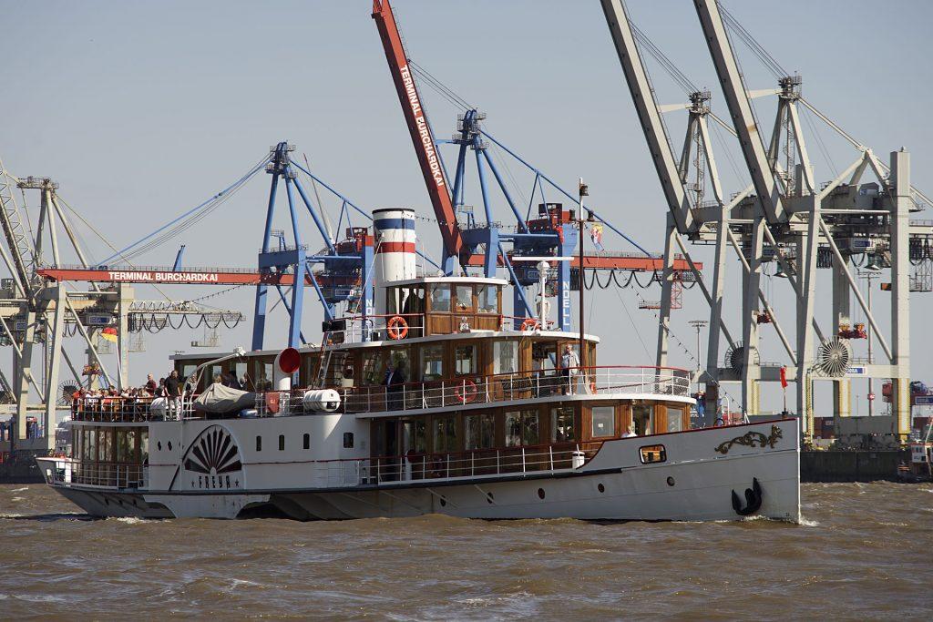 """Der 1905 gebaute Schelde-Raddampfer """"Freya"""" war zeitweise die offizielle Yacht der niederländischen Königin Wilhelmina."""